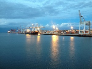 Leaving Brisbane docks