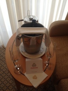 Complimentary Cunard Bubbly