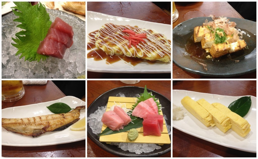 Our feast of food in Osaka restaurant