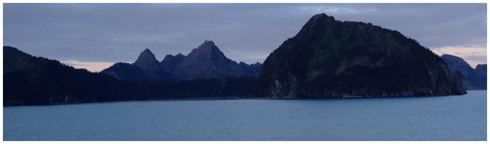 Alaska glowing at night