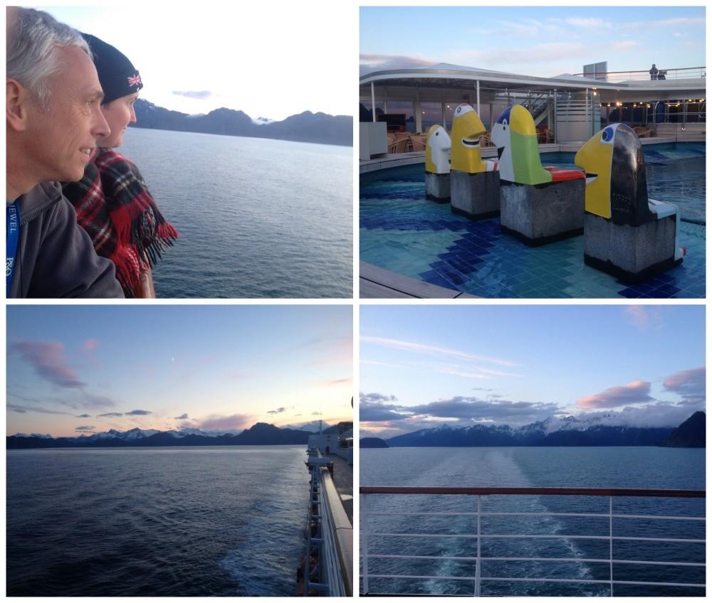 Midnight cruising from Seward in Alaska