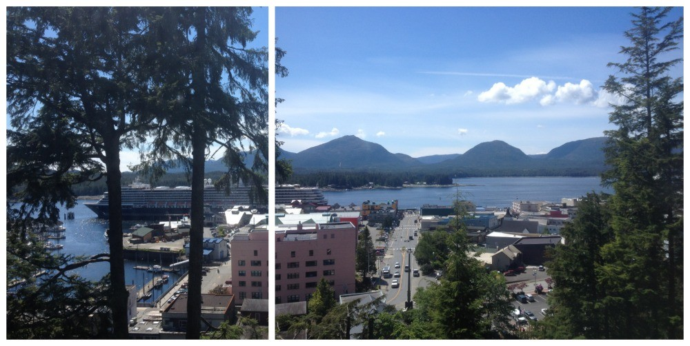 The view from the top of the hill in Ketchikan