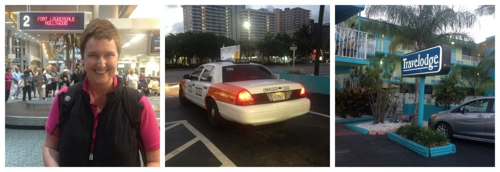 Baggage claim, taxi to Travelodge Fort Lauderdale