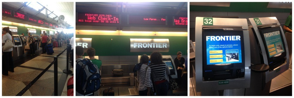 Frontier check-in at Denver International Airport
