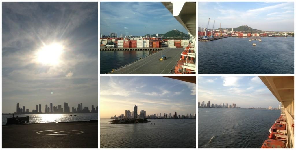 Departing Cartagena Colombia