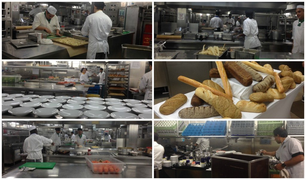 Galley action on Celebrity Infinity
