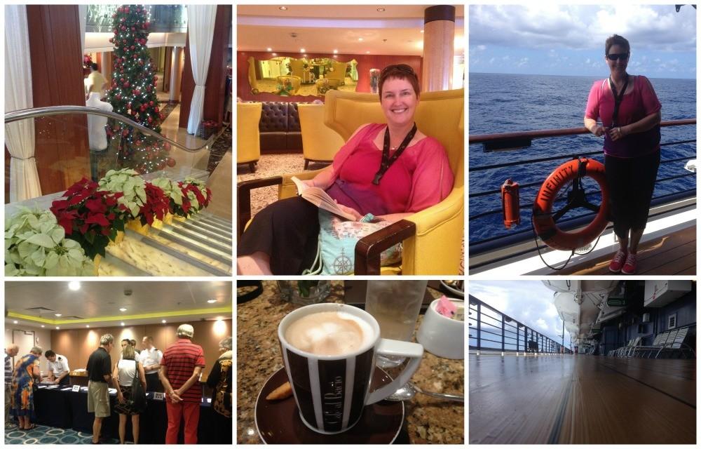 Passport handover, Cafe al Bacio, on deck
