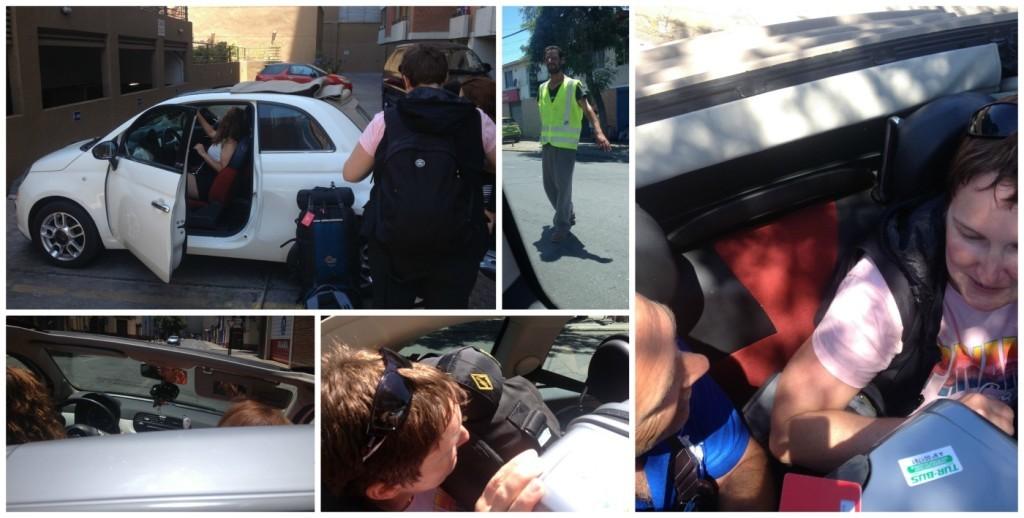 Bubble car ride in Santiago