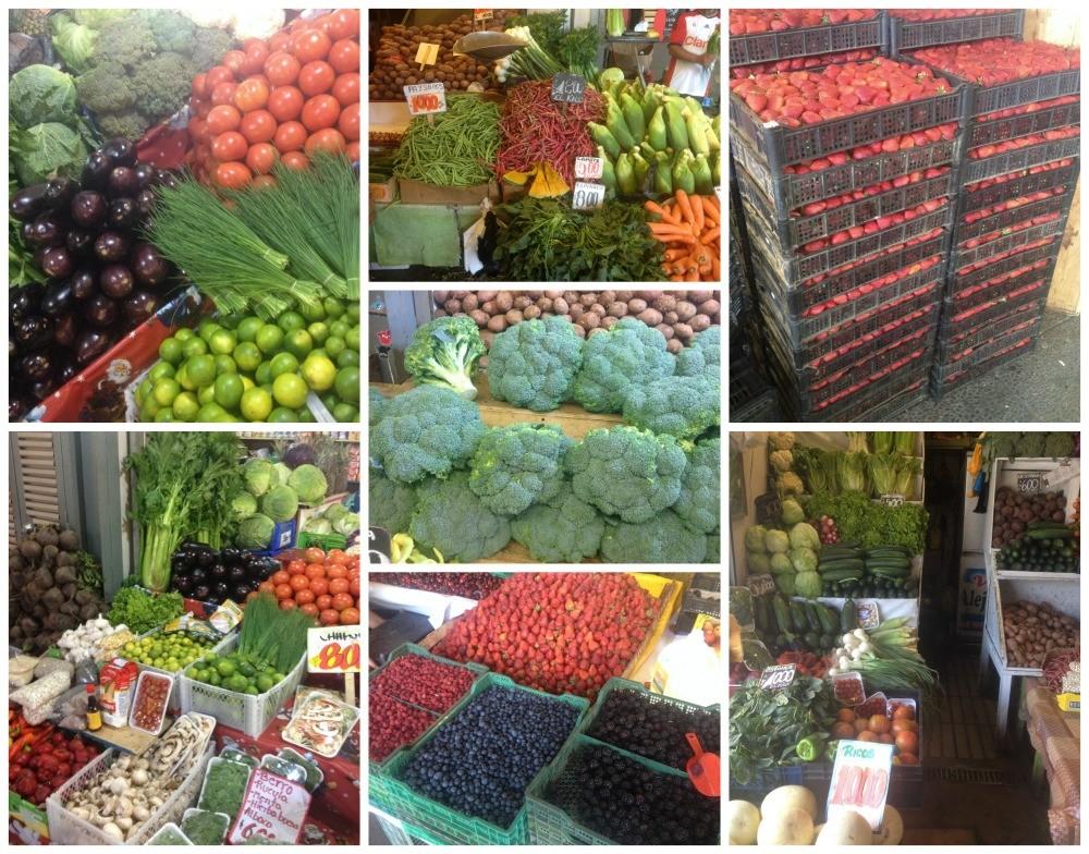 Fruit & Vegetables from the market in Santiago
