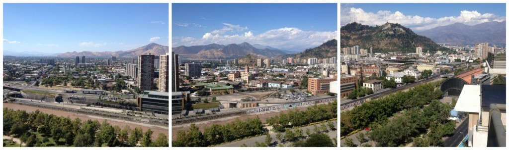 Montage of Santiago skyline