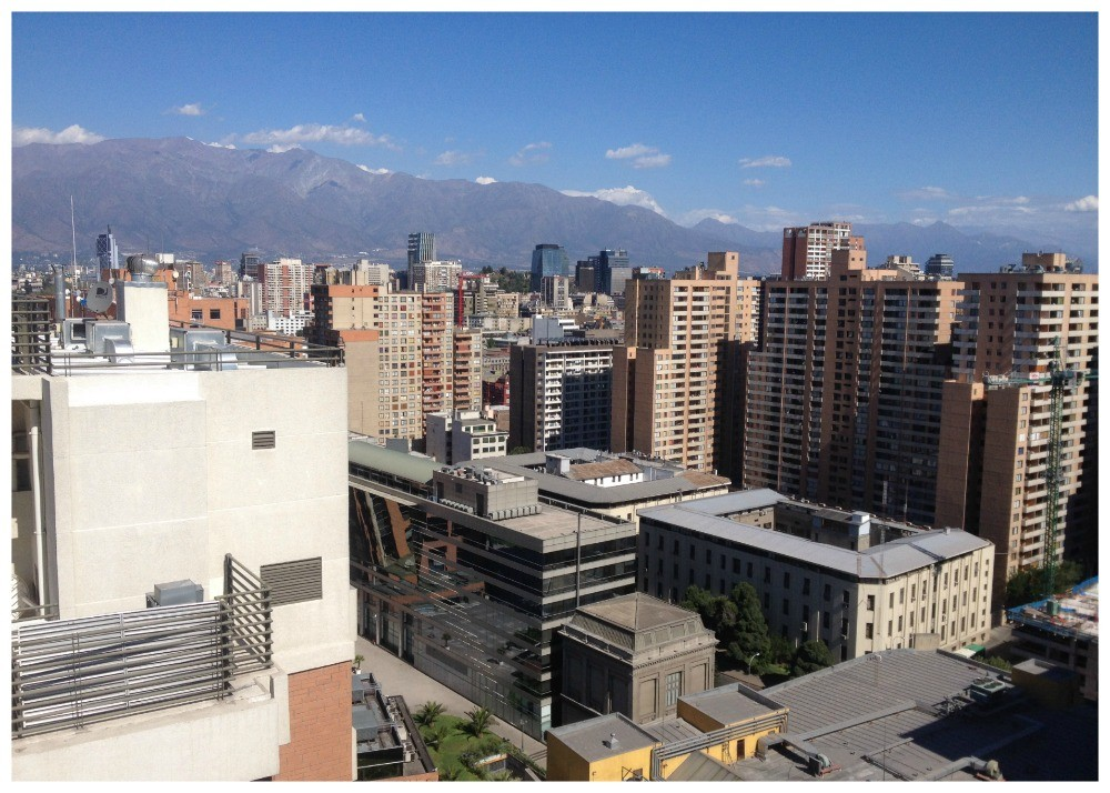 The view to the business area of Santiago
