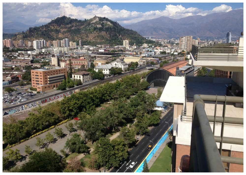 The view towards San Cristobal, the park and part of the old railway station