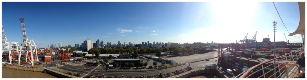 Panorama over Buenos Aires from MSC Magnifica