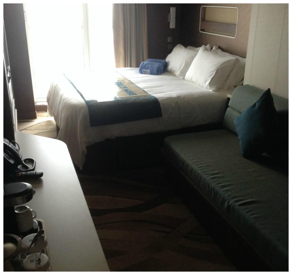 Norwegian Escape Cabin #11848 - Our balcony cabin had the bed near the window
