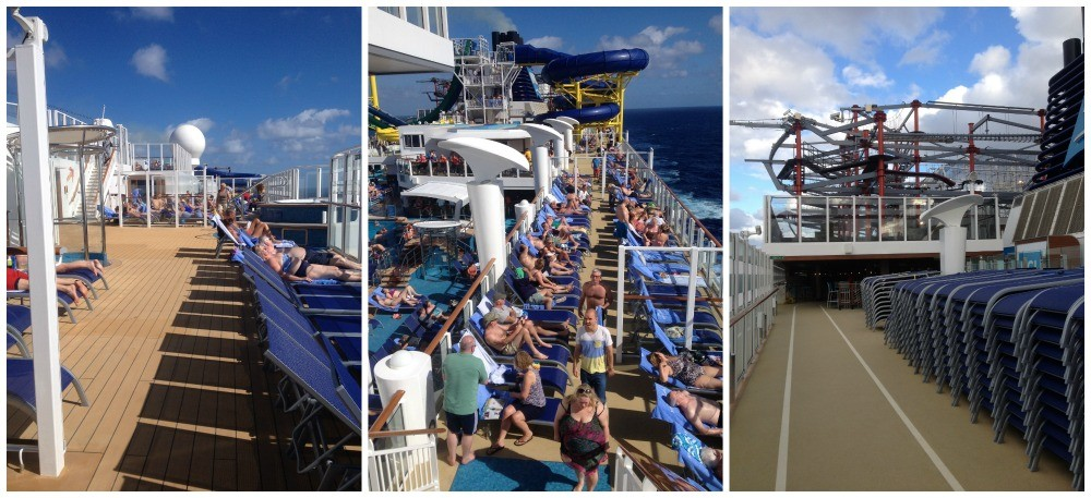 Deck chairs on Norwegian Escape