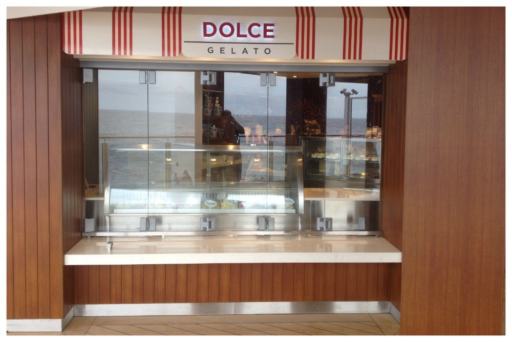 Dolce Gelato deck 8 on the waterfront NCL Escape