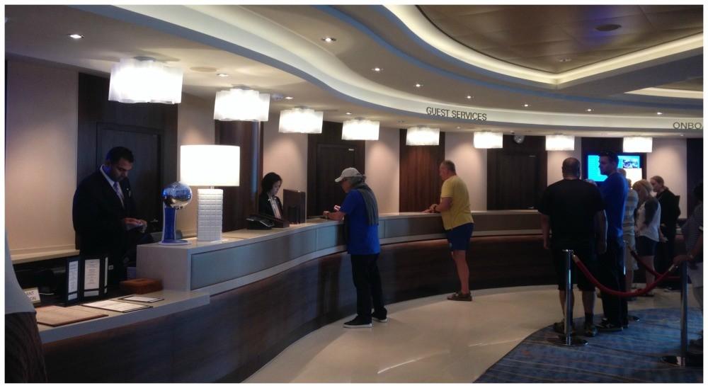 Guest Services in the Atrium on NCL Escape