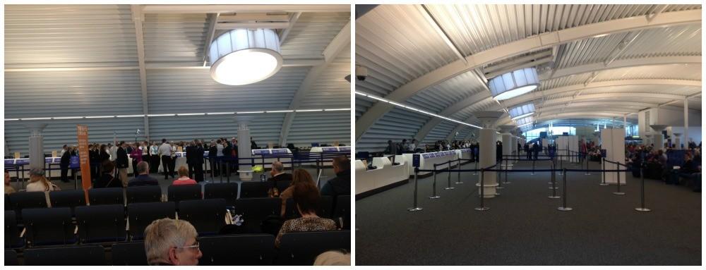 Inside Southampton cruise terminal