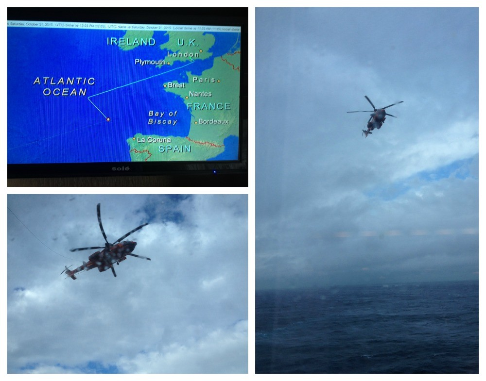 Medical evacuation by helicopter near to Spain