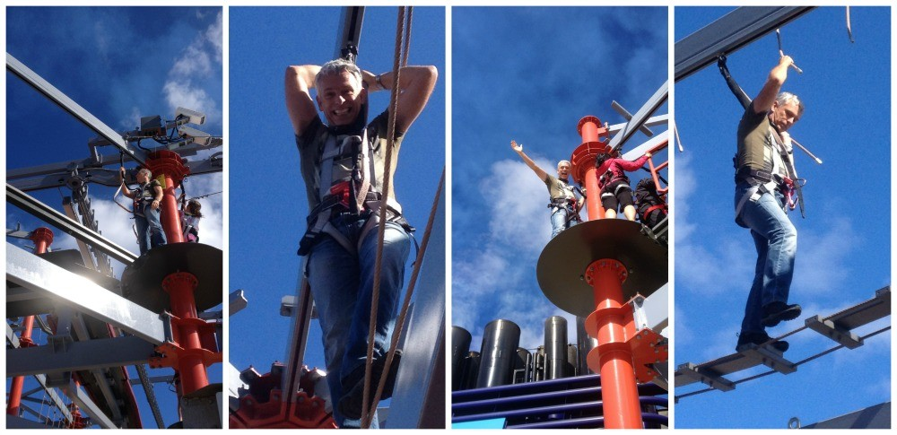 Ropes course on NCL Escape