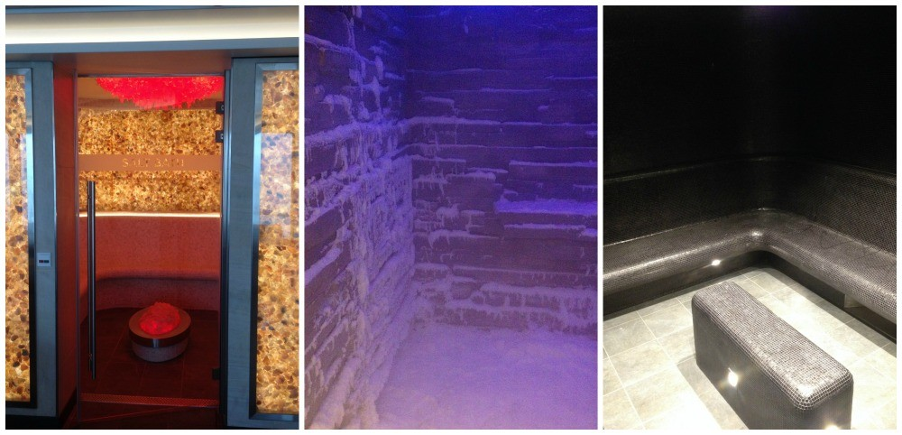Salt room, Snow room & Steam room at the Spa on NCL Escape