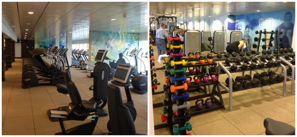The Gym area on Norwegian Escape