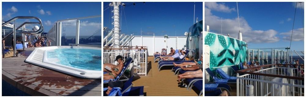 The front of the Escape sun deck