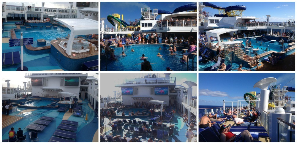 The main pool area in deck 16 NCL Escape