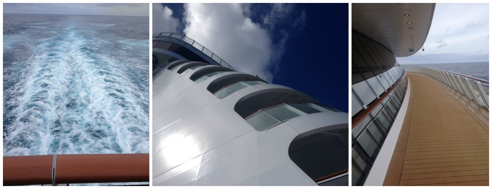 The view from the rear of Norwegian Escape