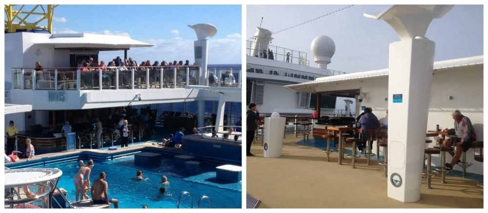 Waves pool bar on two levels NCL Escaape
