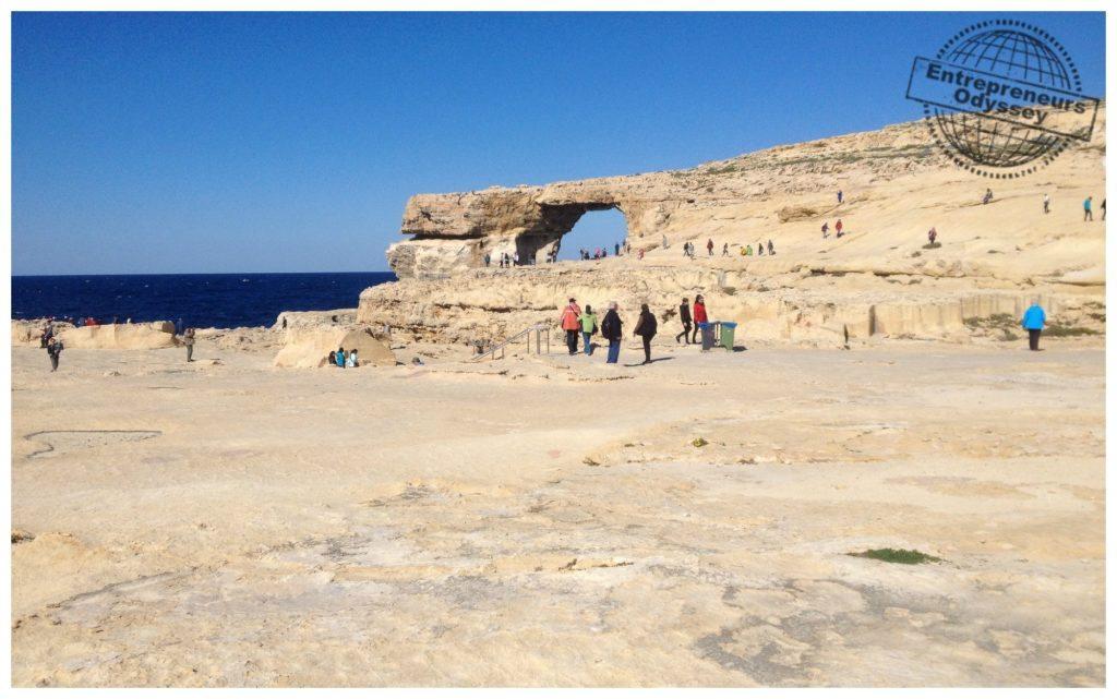 Looking towards the Azure Window on Gozo
