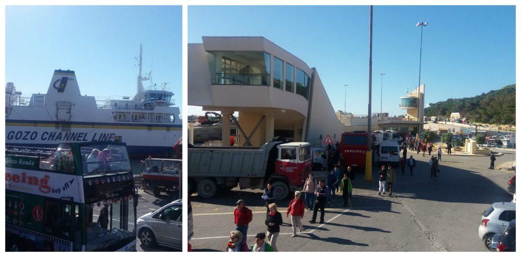 Mgarr ferry terminal on Gozo