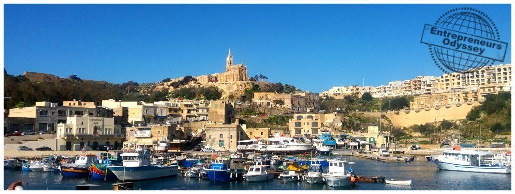 Mgarr harbour on Gozo island Malta