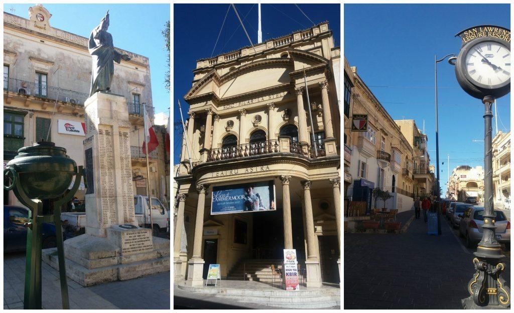 Victoria on Gozo, main square, teatro Astra, main street