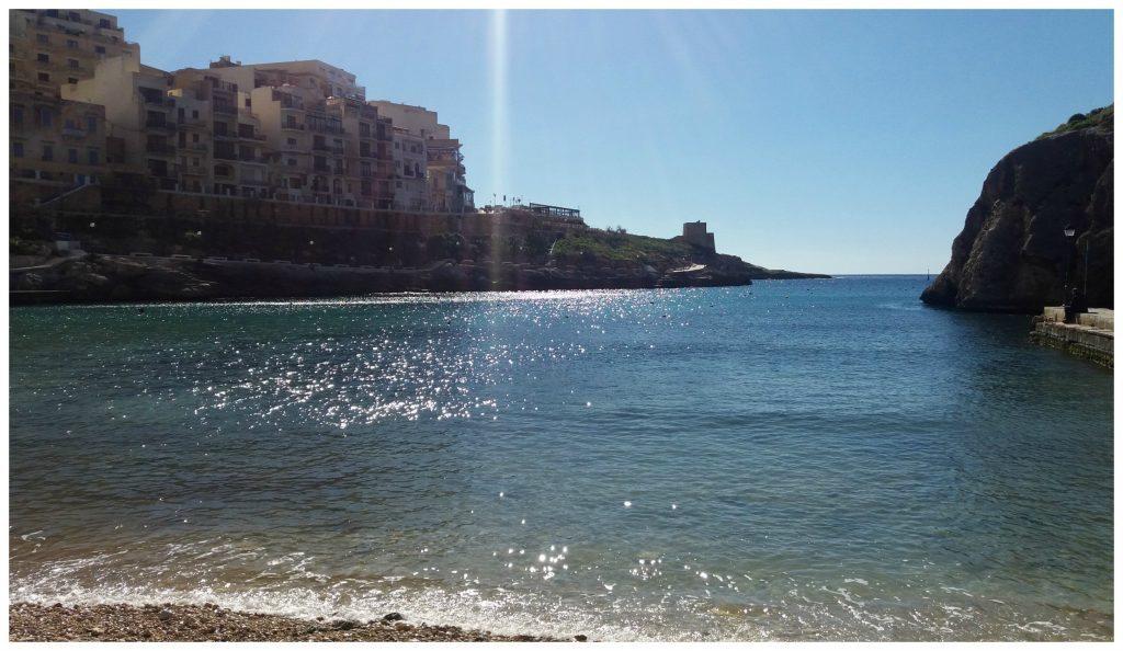 Xlendi Bay on Gozo island