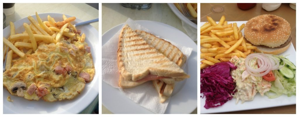 A selection of meals from Knickerbocker cafe