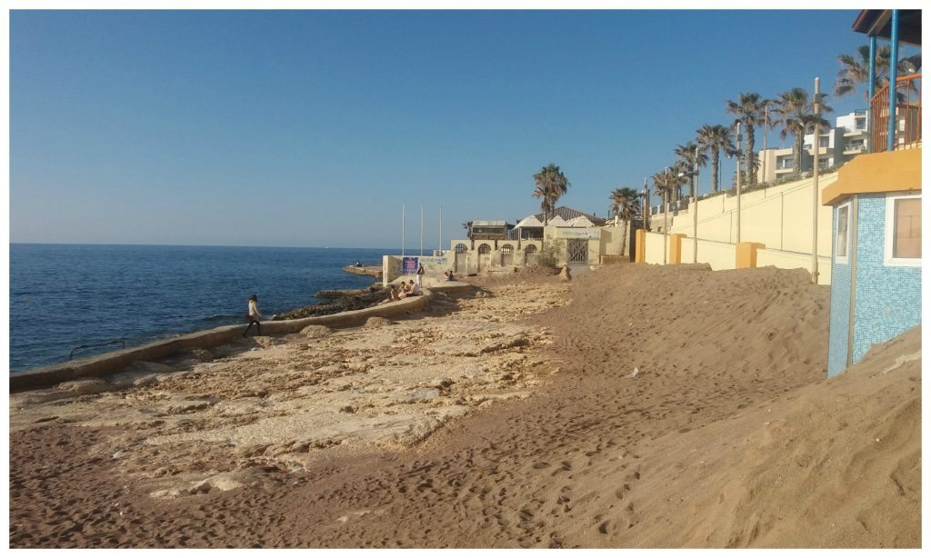 Sand ready to make the beach in Qawra