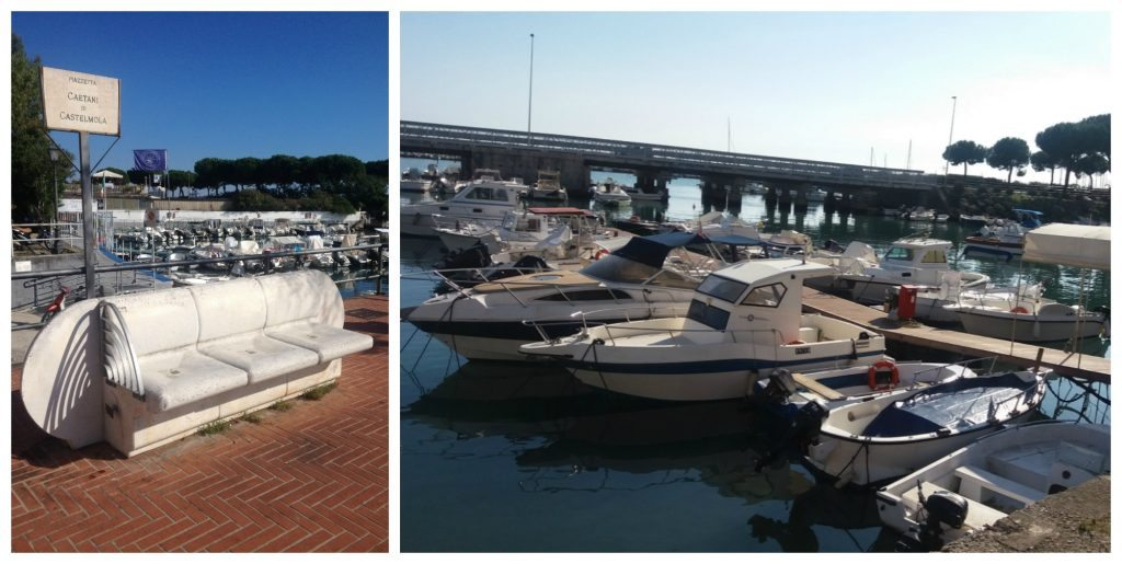 Boats in the harbour of Formia