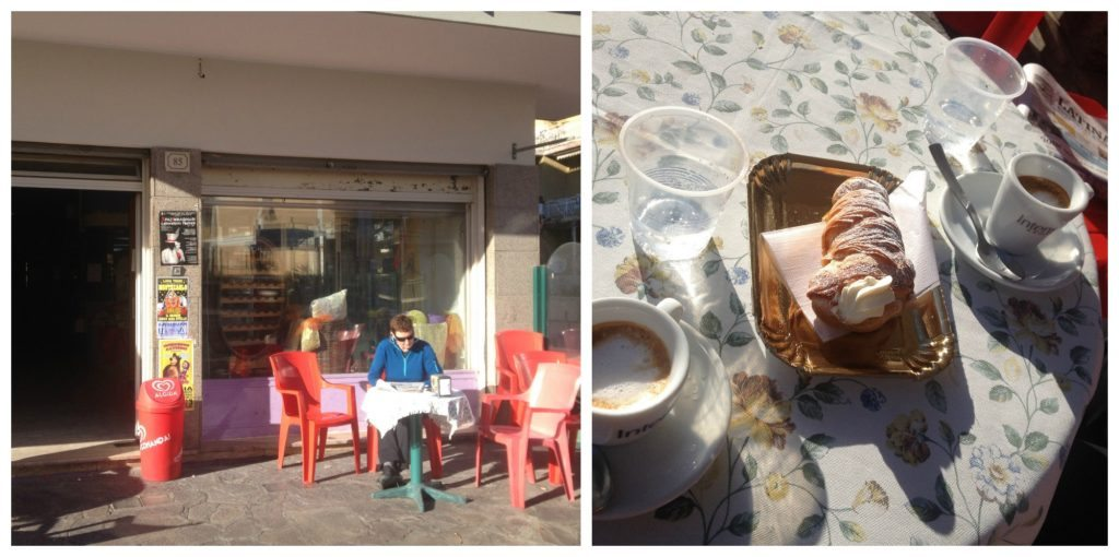 Coffee & aragoste at the local cafe