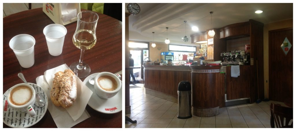 Coffee, grappa and pastry