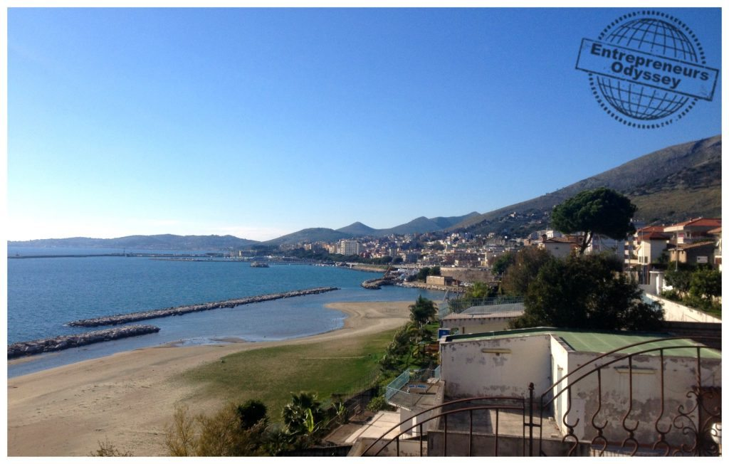 Formia beachfront and town