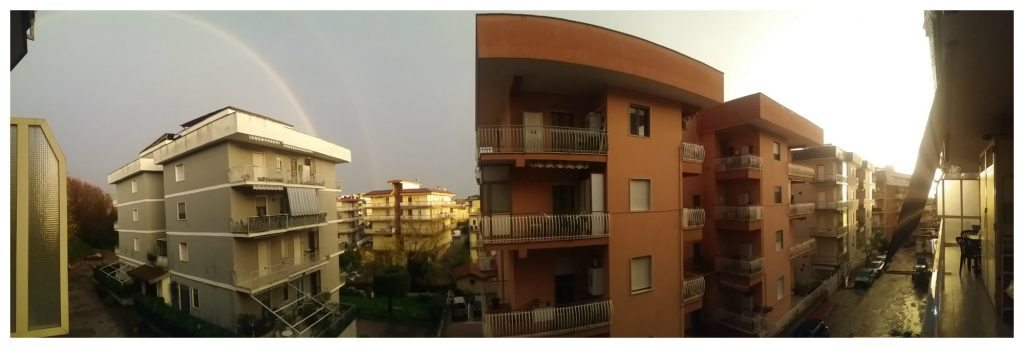 Panorama view from our apartment in Formia