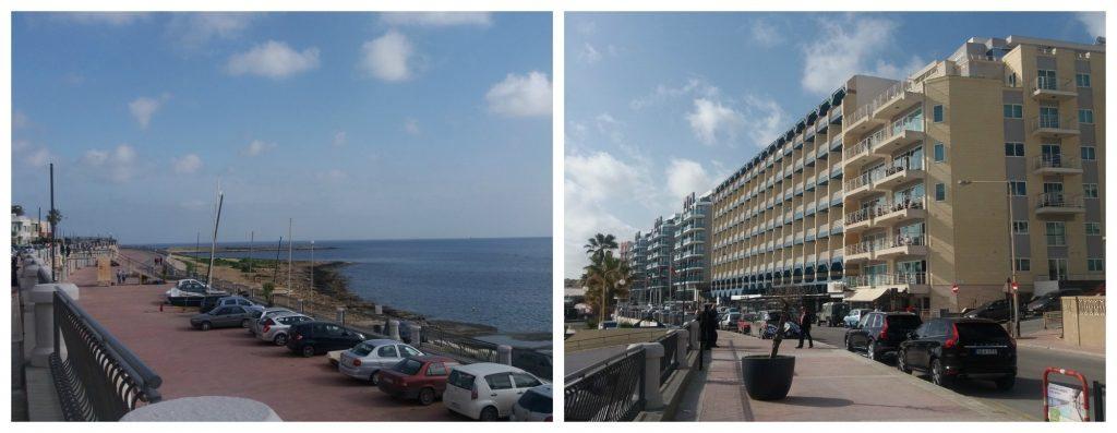 Qawra seafront in Malta