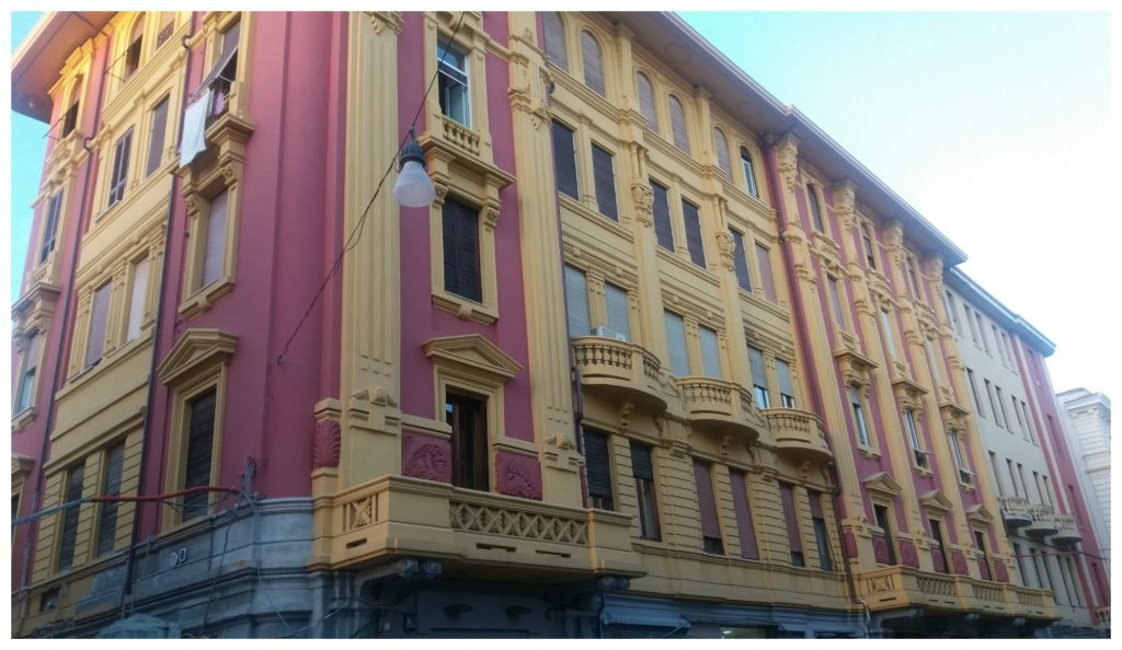 Stunning colourful facades in Formia
