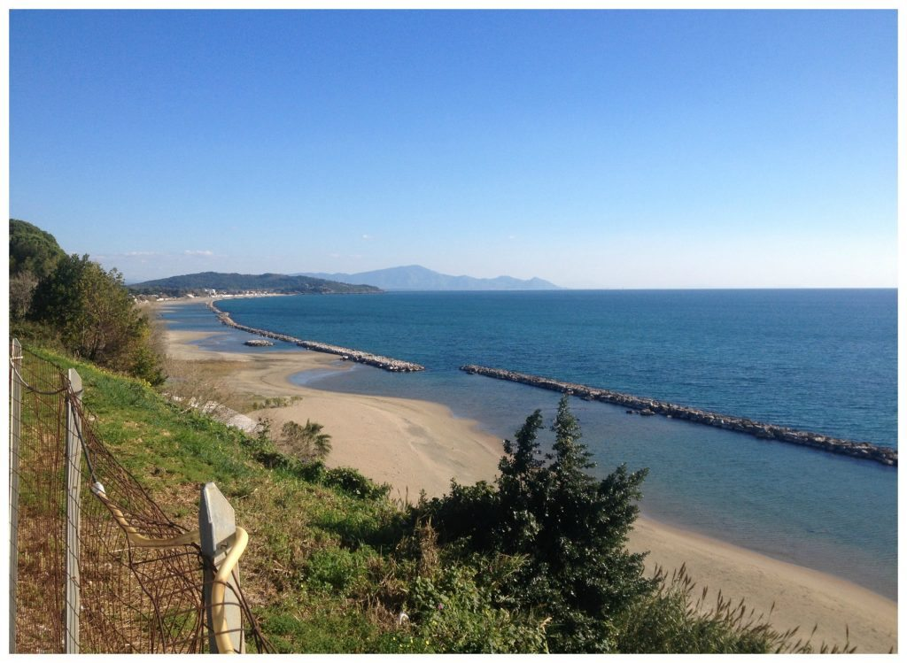 The coastline from Formia