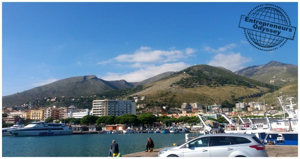 The port in Formia