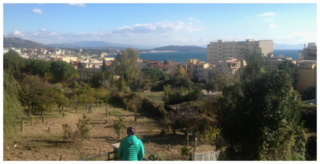 View from Formia train station
